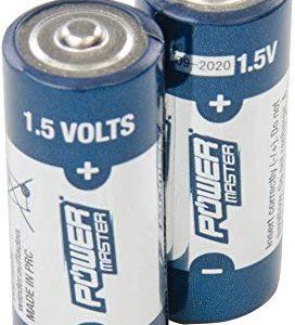 Powermaster 772254 Batterie Super Alcaline, 1.5 V,, Set di 2 Pezzi