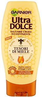 Garnier Ultra Dolce Tesori di Miele Balsamo Crema Ricostituente per Capelli Fragili, 200 ml