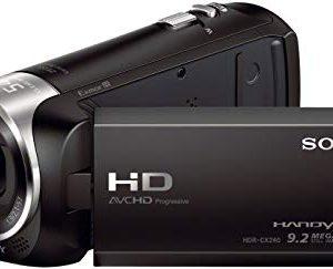 Sony HDR-CX240E Videocamera Handycam, Sensore CMOS Exmor R da 3.1 mm Retroilluminato, Obiettivo Grandangolare ZEISS, Zoom Ottico