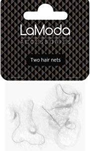 Lamoda Hair Nets. Bianco. 2 pezzi. Taglia unica.