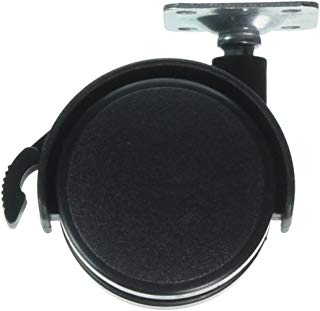 Sourcingmap - Parte di ricambio in plastica nera ruota girevole caster per sedia a rotelle