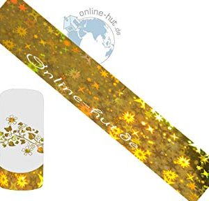 Trasferimento Schermo stelle di sfondo oro ologramma
