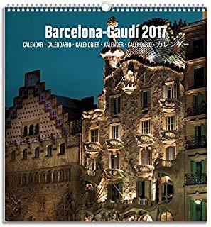 Grupo Erik editori-Calendario turistico media 2017, 23 x 24 cm Barcelona Gaudi 23 x 24 cm