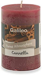 Galileo Casa Cannella Candela Profumata, Cera, Rosso, 4,8x4,8x7,5 cm