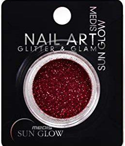 Medis Sun Glow Glitter Glam & Glitter Nail Powder Metallic Rose
