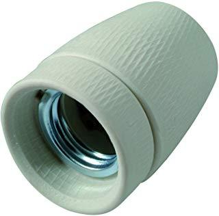 Profile 790840275 Socket accessorio per illuminazione di Esterno porcellana E27 Metallo Bianco