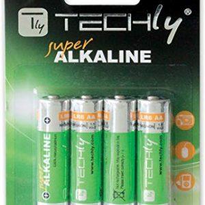 Techly 306974 Blister 4 Batterie High Power Stilo AA Alcaline LR06 1,5V