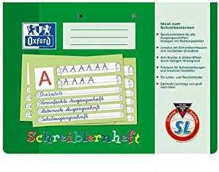 Oxford Schreiblernheft, DIN A4 quer, Lineatur: SL