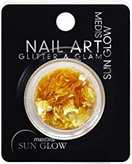 Medis Sun Glow Glitter e Glam, glitter chip di grafica, Giallo