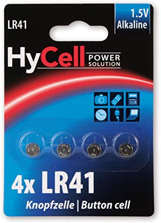 HyCell Batteria a Bottone LR41 1,5V, V3GA, LR41-192 Akku-Set - Alkaline