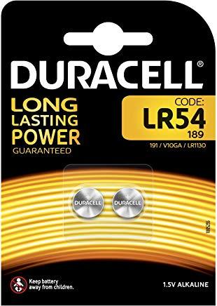 Duracell LR54, pile 1.5 v (confezione da due)