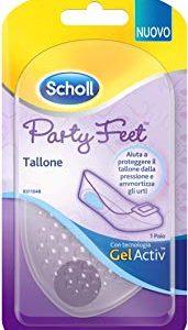 Scholl Party Feet Tallone Cuscinetto in Gel Trasparente, 2 Confezioni da 1 Paio