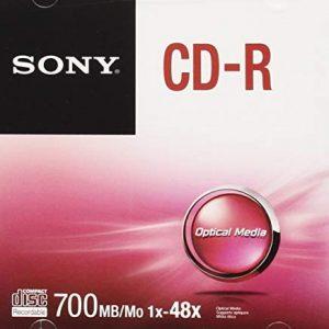 Sony CDQ80SJ CD-R, 48x, Grigio