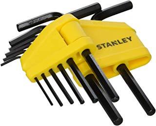 STANLEY 0-69-251 - Set di 8 chiavi esagonali maschio (brugola) piegate corte