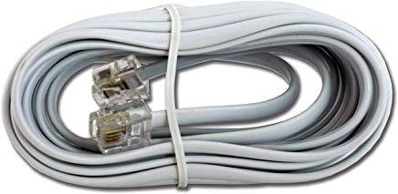 Gembird TC6P4C-2M Cavo telefonico Bianco
