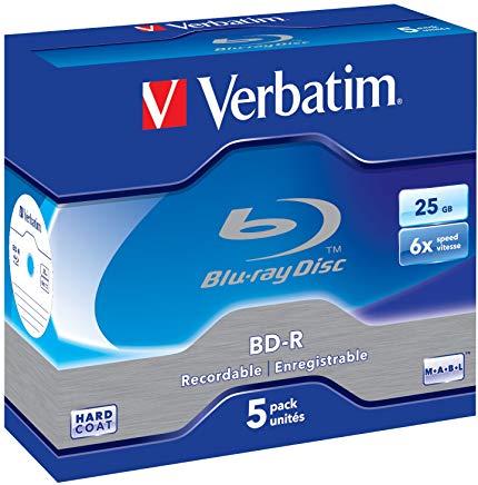 Verbatim BD-R 25GB Blu-ray registrabile (BD-R) - Confezione da 5
