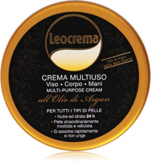Leocrema - Crema Multiuso, Viso, Corpo, Mani all'Olio di Argan -  150 ml
