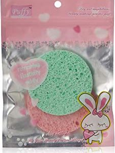 Lilyz make-up rinfrescante applicatore Puff, pezzi, blu e giallo-verde e rosa