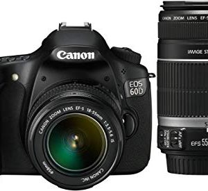 Canon EOS 60D SLR Fotocamera Digitale Reflex 18 Megapixel + Kit EF-S 18-55mm IS e EF-S 55-250mm IS