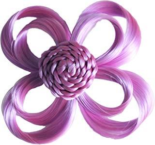 Le estensioni dei capelli amano clip colore lilla fiore, pacchetto 1er (1 x 1 pezzo)