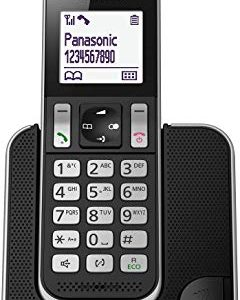 Panasonic KX-TGD320JTB Telefono Cordless DECT con Segreteria Telefonica, Schermo LCD Monocromatico Bianco, Schermo e Tasti Retro