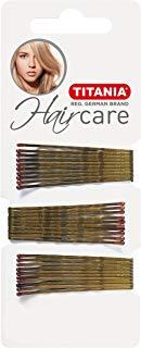 Titania fermagli per capelli, Gold, dritto, 7 cm, 1er Pack (1 X 41 G)