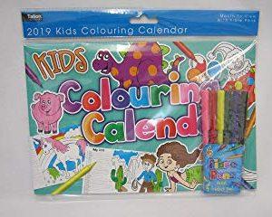 DAY2DAY calendario 0671 formato A4 orizzontale per bambini con 6 pennarelli con punta in fibra