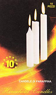 Household Candles - Candele Di Paraffina - 10 Pezzi