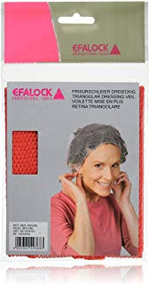 Efalock 12349 - Veli da acconciature, 2 pz, colore: rosso