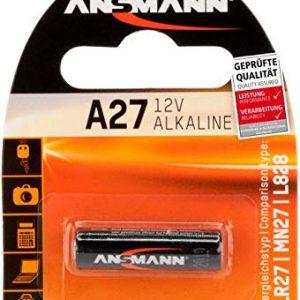 ANSMANN Batteria di Marca Alkaline A27 (12V) MN27, V27A per apertura porta garage, sistema di allarme, mini radio, grilletto per