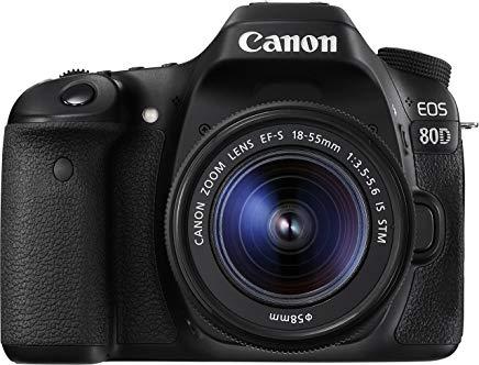 Canon EOS 80D Kit Fotocamera Reflex Digitale da 24.2 Megapixel con Obiettivo EF-S 18-55 mm IS STM, Nero-Antracite