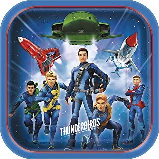 Unique Party - 48925 - Thunderbirds-Piatti di carta per feste, confezione da 8