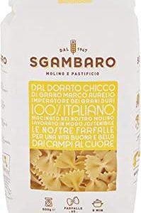 Pasta Sgambaro - Farfalle N. 65 - 100% grano duro italiano - 500 gr