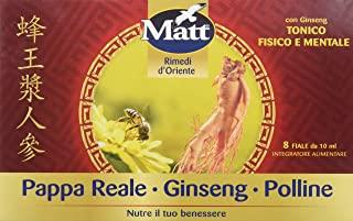 Matt - Pappa Reale Polline Ginseng - Integratore Alimentare contro Stanchezza con Pappa Reale, Polline e Benefici del Ginseng -