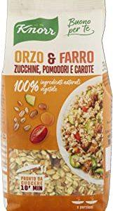 Knorr Cuoci e Gusta - Orzo, Farro, Zucchine, Pomodori e Carote - 160 g