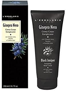 L'Erbolario GINEPRO NERO, Crema per il corpo, energizzante, 200 ml