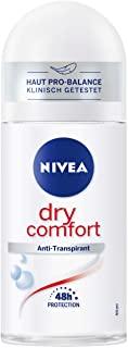Nivea Dry Comfort Deo Roll On (50 ml), anti-agrumi per ogni situazione quotidiana con protezione antibatterica, 48 ore di deodor