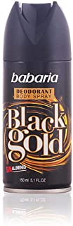 Babaria Deodorante Spray da Uomo, Black Gold, 150 ml