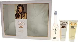 Jennifer Lopez J.Lo Glow, set regalo Eau de Toilette spray Plus Body Lotion + gel doccia, 100 ml/75 ml/75 ml