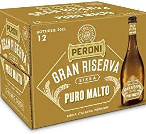 Birra Peroni Gran Riserva Puro Malto - Cassa da 12 x 50 cl (6 litri)