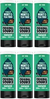 Fonte Shower Gel originale Menta e Tea Tree Confezione 250ml di 6