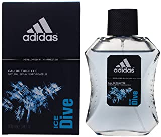 Adidas Ice Dive Eau de Toilette, Profumo Uomo Spray, 100 ml