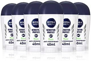 Nivea Men Sensitive Protect - Deodorante in stick, 40 ml, 6 pz.