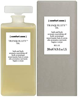 Comfort Zone TRANQUILLITY OIL, Olio aromatico nutriente per il corpo e il bagno, 200 ml