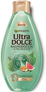 Garnier Ultra Dolce Bagnodoccia Fico e Zucchero di Canna Bagnoschiuma Purificante, 500 ml - [confezione da 6]
