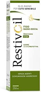 RestivOil Fisio Bagno-Doccia Olio-Bagno per il Corpo e per Cute Sensibile, con Azione Dermoprotettiva, senza Agenti Schiumogeni