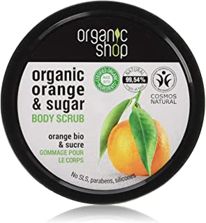 Organic Shop - Scrub corpo all'arancia siciliana, 250 ml