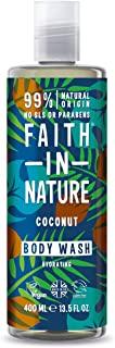 Faith in Nature Bagnoschiuma Naturale al Cocco, Idratante, Vegano, senza Parabeni e SLS, non Testato su Animali, 400 ml