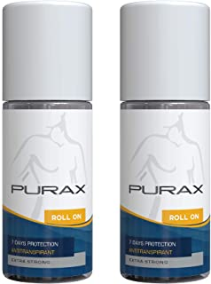 Purax Double Pack anti traspirante Roll-On Extra Strong 50ml - 7 giorni di protezione, 2-pack (2 x 50 ml)