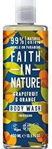 Faith in Nature, Gel Doccia 100% Naturale con Pompelmo e Arancia, Per tutti I Tipi di Pelle, Senza Parabeni, Vegano, 400 ml